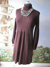 Madison Leigh Long Sleeve Brown Knit  Dress Size M NWT MSRP $96