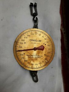 vintage Chatillon scale weights from 50 to 300 pounds. New York.  USA.