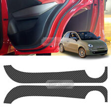 Carbon Door Decal Sticker Scratch Cover Protector For FIAT 2013-2017 500C