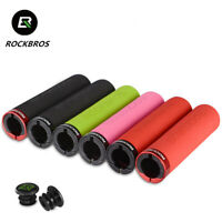 RockBros Bicycle Handlebar Grips Cycling MTB BMX Bike Silicone Sponge Soft Grip