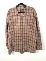 Red Head Brand Co. Flannel Shirt Long Sleeve Plaid 100% Cotton Mens Size 3XL