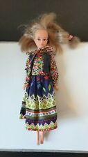 Vintage doll Bella Tressy Grow Hair and original outfit, 1970s fashion