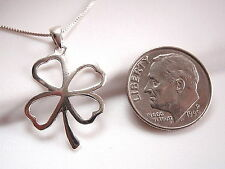 Four-Leaf Clover Pendant 925 Sterling Silver Corona Sun Jewelry Lucky Good Luck