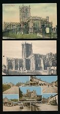 Somerset CREWKERNE Church x5 c1900/70s PPCs