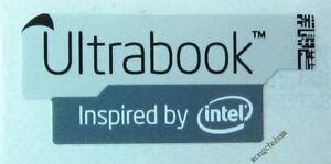 Ultrabook Inspired by intel sticker 13mm x 30mm Grey - { 2 Pcs Per Lot  }