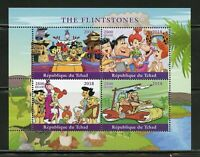 Chad 2018 THE FLINTSTONES sheet of 4 unmounted mint sheetlet stamp stamps