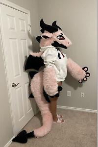 Pink Dragon Fursuit Partial Furry