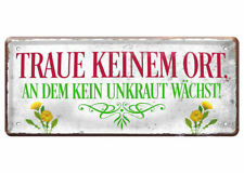 Wanddeko Metall Quer Sch/öne Geschenkidee und Geschenk f/ür Hobby G/ärtner Metallschild f/ür Haust/ür oder Wand Blechschild zum Aufh/ängenBin im Garten