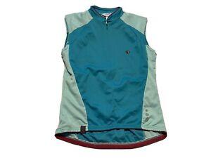 Pearl Izumi Womens Cycling Jersey Size S Vest 1/2 Zip Spring 08 Teal Blue Aqua