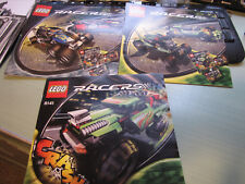 Lego  RACERS  3-  MANUALs ONLY  8141