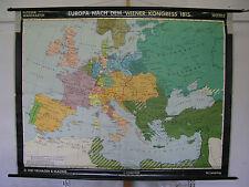 Schulwandkarte Wall Map School Map Role Map Europa Vienna 1815 Congress 196x150c