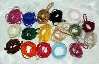 Ric Rac BRAID 1/4 inch size - 2 Metre each of 16 Colours as per picture May Arts