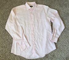 Ermenegildo Zegna Dress Shirt Men's 16 1/2 - 42 Cotton Pink Button Front