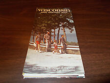 1969 Wisconsin State-issued  Vintage Road Map