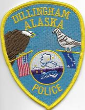 ALASKA Dillingham Police Patch Polizei Abzeichen USA Eismeer Eagle Gans & Flags
