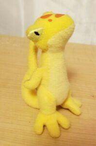 "Yellow Techo Gecko Lizard Neopets McDonalds 2004 4"" Plushie No Tag Clean"