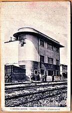 S. Eufemia Lamezia Stazione: cabina e gruppo operai 9x13 viagg 1941 Catanzaro