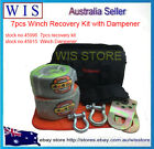 7pcs 4WD Recovery Kit,4x4 OFF Road Snatch Strap Shackles Gloves & Winch Dampener