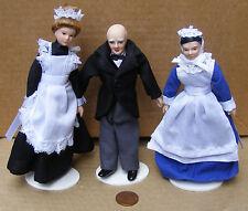 Escala 1:12 Conjunto de 3 funcionarios Victoriano Casa de muñecas en miniatura de accesorios de personas