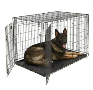 """MidWest Homes for Pets Dog iCrate Double Door Folding 48""""L x 30""""W x 33""""H 1548DDU"""