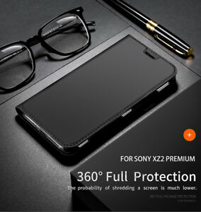 Magnetic Leather+ Soft TPU Silicone Protective Wallet Case Cover For Sony Xperia