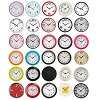 Round Wall Clock Vintage Modern Home Bedroom Retro Time Kitchen Chrom Quartz NEW