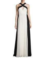 HALSTON  HERITAGE Black & White Gown