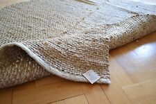 Jute Rug Handmade Flat Knotted Dhurrie Runner 60cm x 90cm Natural Eco 2'x3'