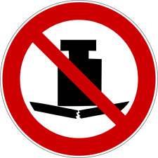 Keine schwere Last - Verbotszeichen nach ISO 7010, Aufkleber