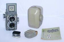 Rolleiflex BABY 4x4cm Twin Lens Reflex medium format FILM camera w/shade & case.