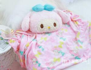 my melody bowknot fuzzy soft cushion pillow blanket quilt blankets fashion