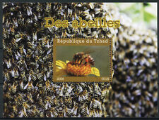 Chad 2018 CTO Bees 1v M/S Abeilles Insects Bee Stamps