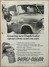 Dupli-Color Amazing New Dupli-Color Sprays Away Scars On Cars Vintage Ad 1967