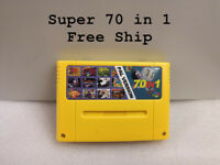 Super 70 in 1 PAL SNES Multi Cart Game Cartridge with Save Function English word