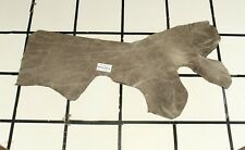 "Wow! ""Marvelous Miracle"" Gray Scrap Leather Hide Approx. 5.25 sqft. Rk34J23-8"