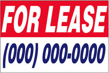 FOR LEASE Vinyl Banner CUSTOM Sign 2x3 ft New - (add your phone #)
