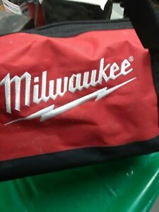 NEW Milwaukee Large Bag Heavy Duty Canvas Tool Bag 6 Pocket w/ Shoulder Strap