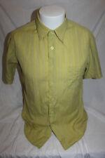 Paul Frank Men's Green Stripe Short Sleeve Button Front Shirt Size Medium