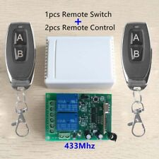 Sale~DC 12V relay 2CH 433MHz wireless Remote Control Switch Transmitter+Receiver