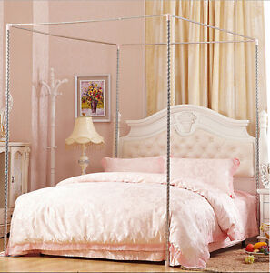 Stainless Steel Mosquito Netting Canopies Frame/Post Twin Full Queen King Size