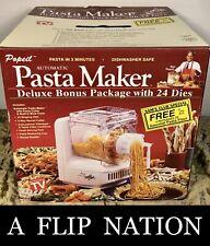 New Ron Popeil P400 Pasta automatic pasta maker 24 dies deluxe bonus Pkg 9024