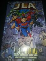 JLA: JUSTICE FOR ALL (1999 TPb DC comics) by Grant Morrison, Mark Waid,