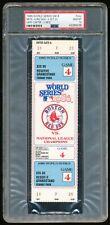 1986 World Series Game 4 Full Ticket PSA 10 Gem Mint Mets~Red Sox Fenway Park