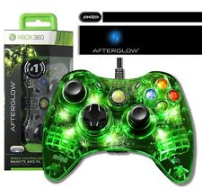 PDP Afterglow Wired Controller für Microsoft Xbox 360 grüne Beleuchtung Neu Ovp