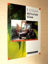 Prospectus Elagage Rousseau  Tracteur RENAULT Brochure Tractor Traktor Prospekt