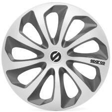 """Sparco SPC1573SVGR Set 4 copricerchi coppe auto Sicilia silver/grigio 15"""""""