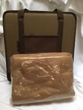 Picnic at Ascot Brown & Tan Portable Folding Padded Stadium Seat with Blanket