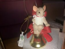"Charming Tails ""Let The Joy"" Dean Griff Nib 2019 Christmas Ornament Bell"