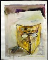 Untitled 1989. Grosses Aquarell Heinz BRZOSKA (1942-2015 D) handsigniert. Unikat