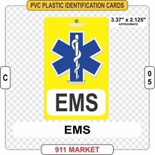 EMS PVC ID Card Badge EMT Ambulance Medical Emergency Identification Plastic C05